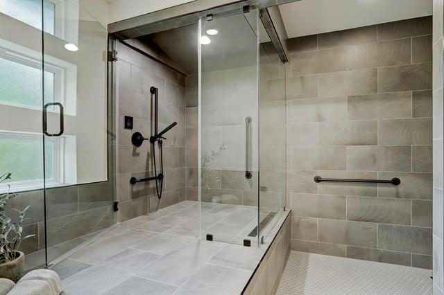 Master bathroom custom shower