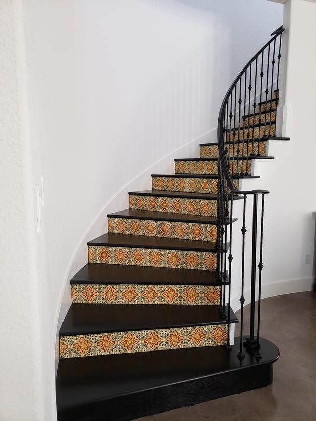 Custom Tile Stairs