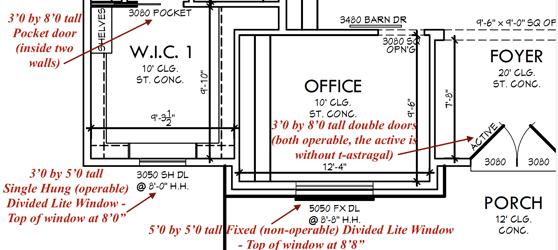Door and Window floor plan Explanation