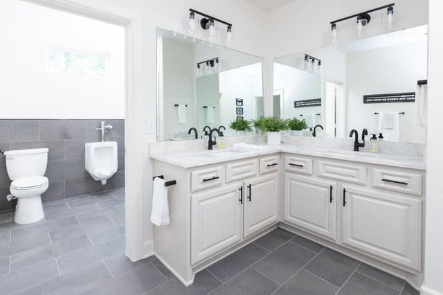 Bathroom with urinal