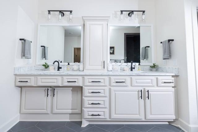 Master bathroom custom cabinets
