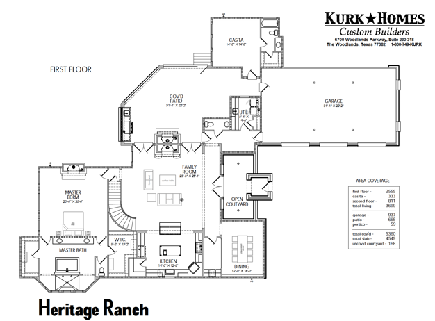 Heritage Ranch Floorplan