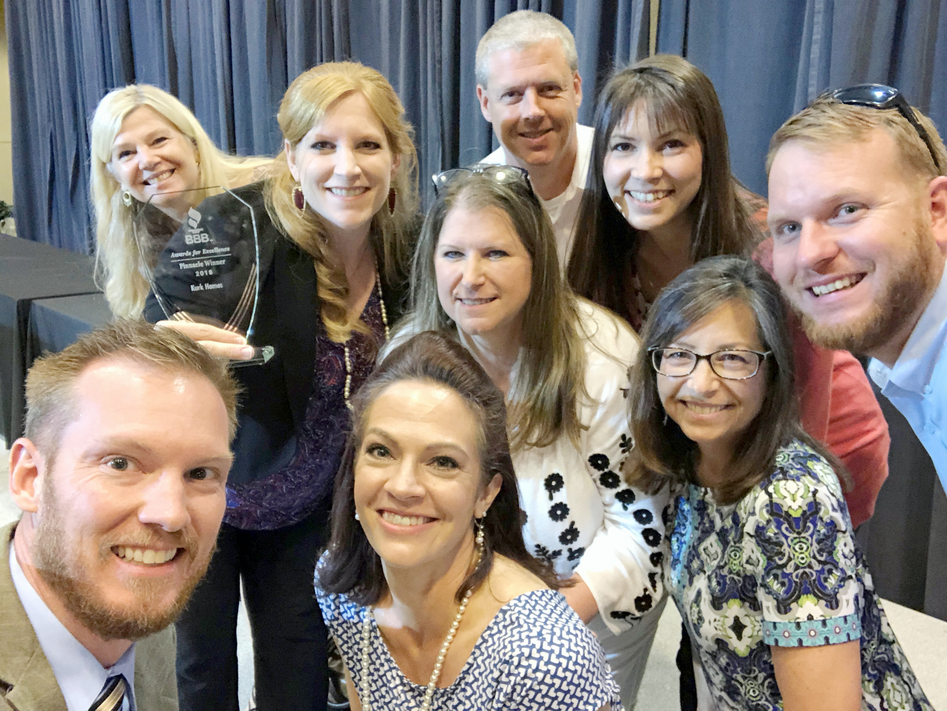 Better Business Bureau Recognizes Kurk Homes with Pinnacle Award 2018