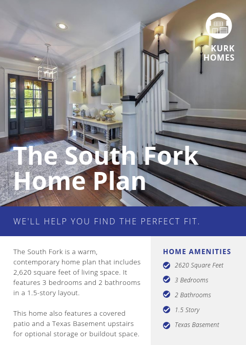 The South Fork Home Plan | Kurk Homes Design